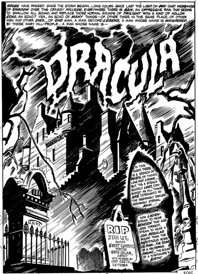Gene Colan - The Tomb of Dracula - El castillo Drácula