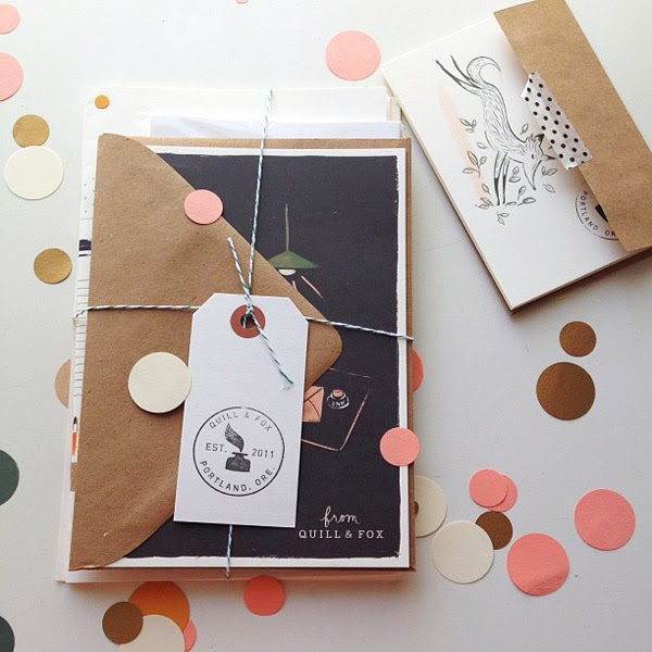 Getting packages in the post is awesome! Cool Quill & Fox stationery, seen on Instagram