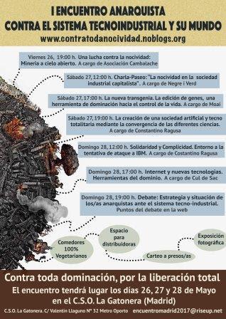 I ENCUENTRO ANARQUISTA CONTRA EL SISTEMA TECNOINDUSTRIAL Y SU MUNDO