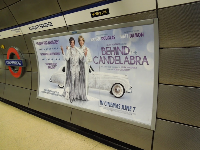 Behind the Candelabra London tube poster