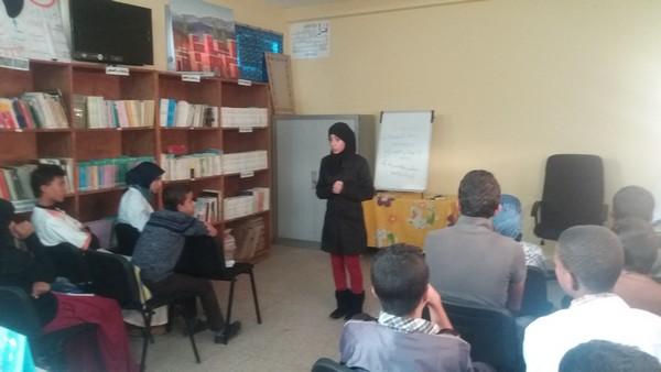 """إنطلاق فعاليات مسابقة"""" فن الإلقاء و التواصل """" بثانوية محمد الجزولي نيابة تيزنيت"""