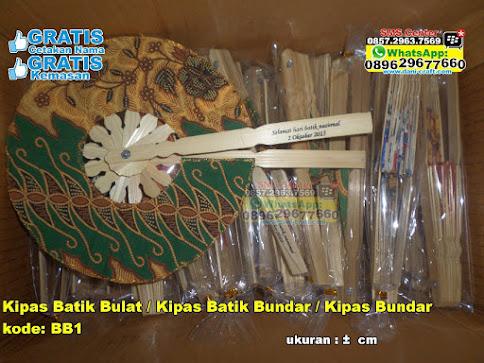 Kipas Batik Bulat / Kipas Batik Bundar / Kipas Bun grosir