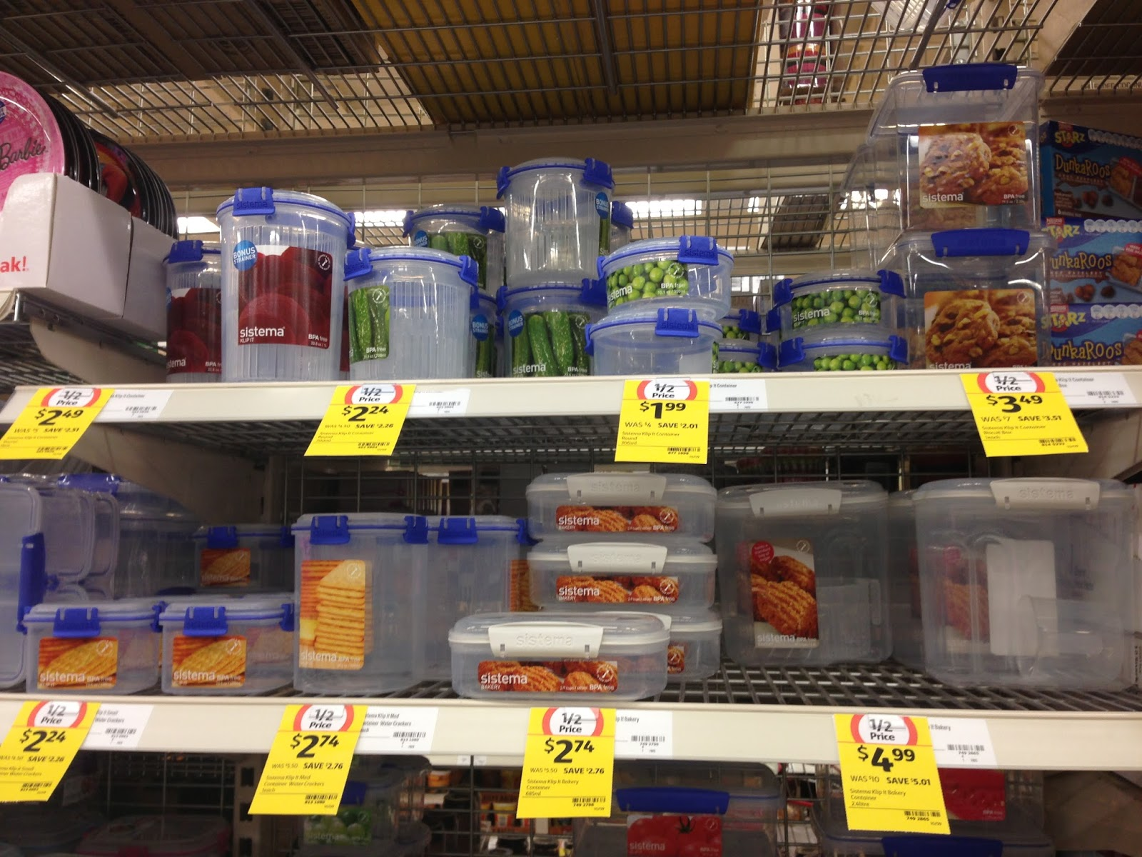 I heart organising sistema klip it containers half price for Decor containers coles