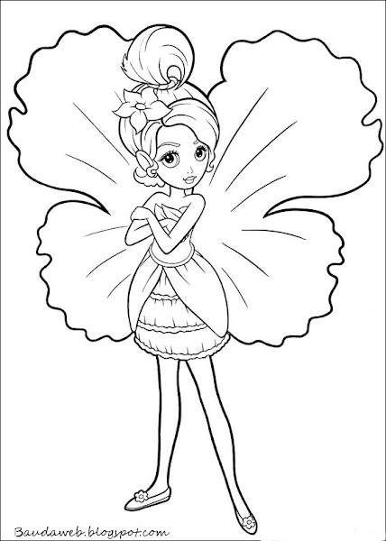 Para ampliar, salvar e imprimir os desenhos da Barbie Polegar , clique