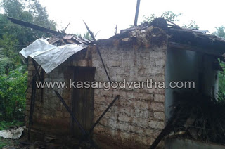 House, Rain, Destroyed, Kumbala, Kasaragod