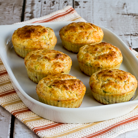 Cottage Cheese  and Egg Breakfast Muffins Recipe with Bacon and Green Onions found on KalynsKitchen.com.