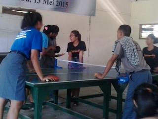 Pemberian pengarahan pada peserta Tenis Meja