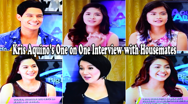 PBB All In August 22, 2014 Episode: Kris Aquino's One on One Interview with Housemates