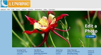 Edita y agrega efectos online  a tus fotografías usando Luna Pic