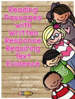 https://www.teacherspayteachers.com/Product/Reading-Passages-with-Written-Response-Requiring-Text-Based-Evidence-998530