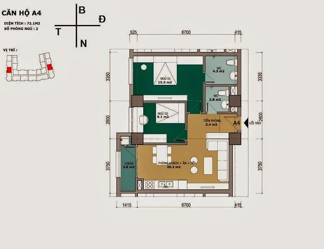 chung cư CT2B Cổ Nhuế