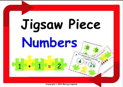 Jigsaw Piece Number math center