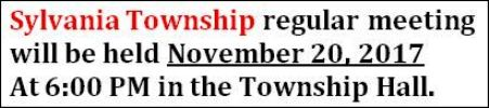 11-20 Sylvania Township Meeting