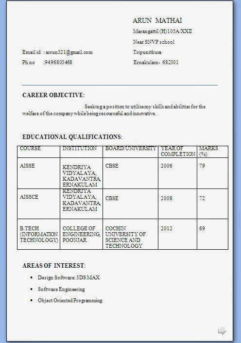 biodata sample form applicants