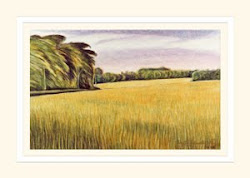 Edge of Poole Wood from Grey Towers Farm Lane greeting card