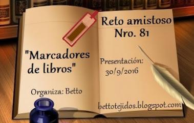 """Reto Amistoso nº 81 """"Marcadores para Libros"""""""