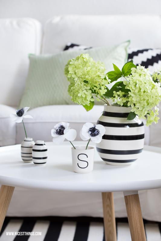Wohnzimmerdeko Grün Hydrangea Hortensien