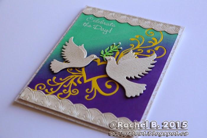 Handmade card Impression Obsession