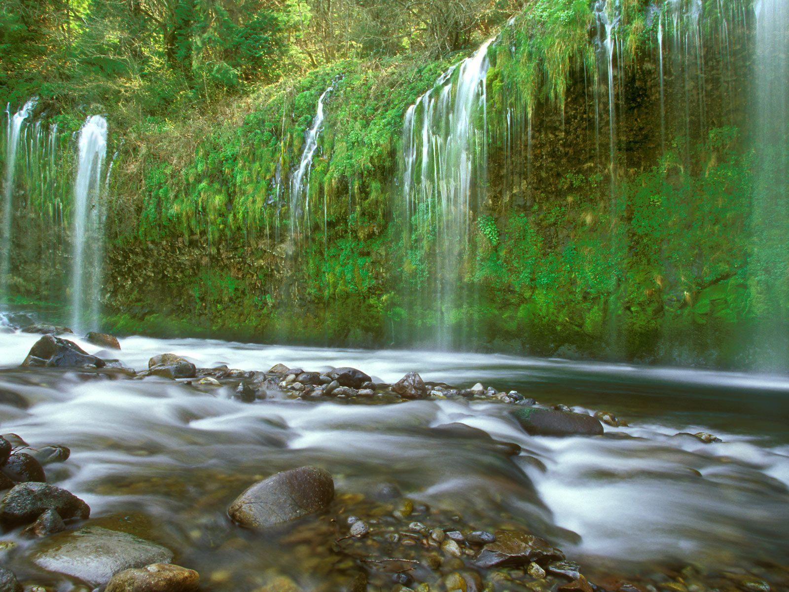 gambarwallpaper pemandangan air terjun Mouse Creek Fallsin Winter ...