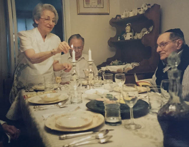 Shabbat, Sabbath, lighting candles, Friday night dinner, family, Estelle Meshenberg, grandparents, grandmother