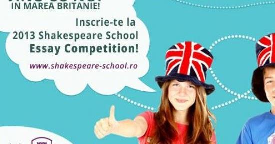 shakespeare school essay competition 2012 rezultate