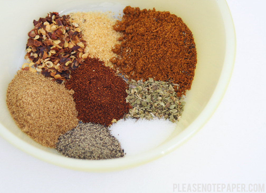 Please Note: Make Your Own Taco Seasoning