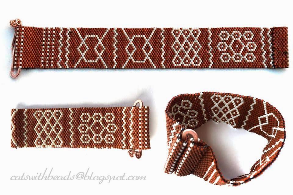 pulli kolam beadwoven bracelet
