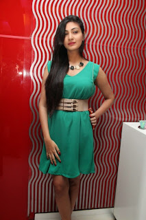 Neelam Upadhyaya Pictures in Short Dress at Om Shanthi Om Audio Launch