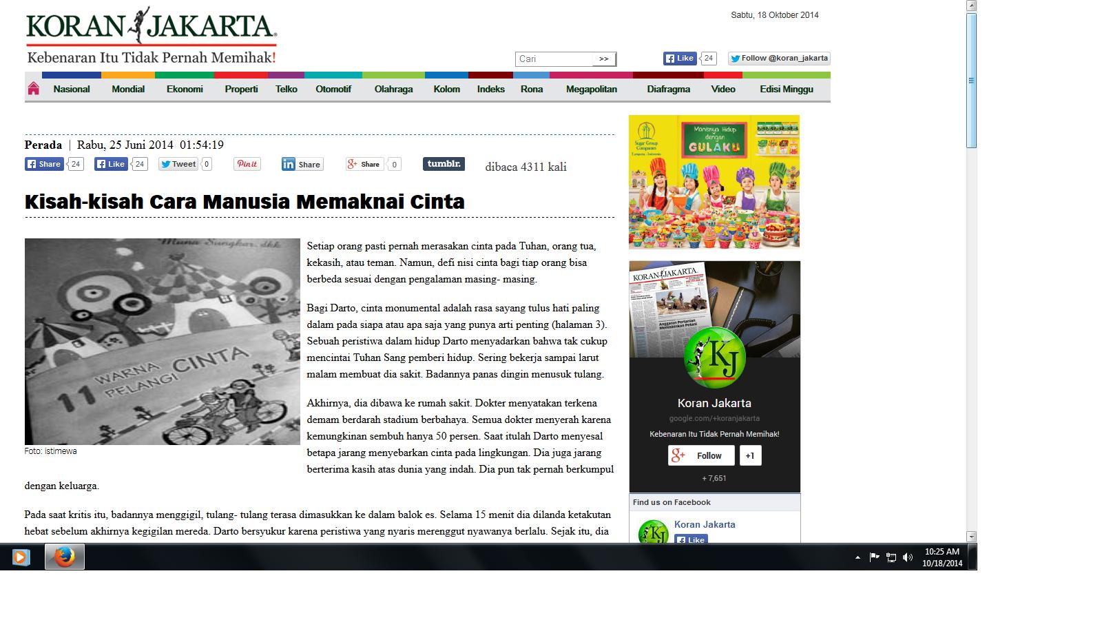 Resensi Buku Dimuat di Koran Jakarta