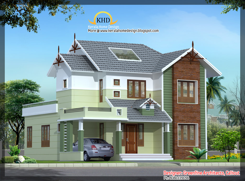 House elevation 1670 sq ft kerala home design and for Latest house elevation