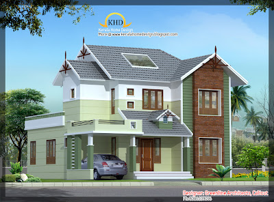 House Elevation   1670 Sq  Ft    Kerala home design and floor plans