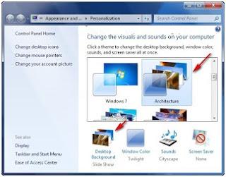 membuat slide show themes windows 7