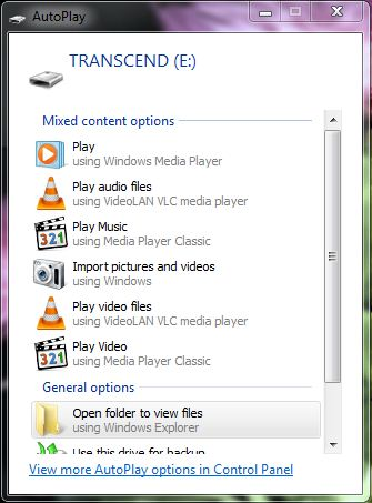 respones to how to change autoplay setting in window xp vista 7