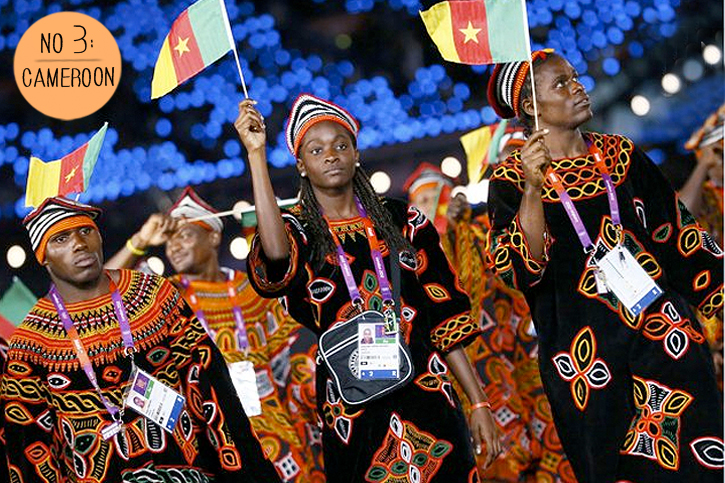 Cameroon boubou, Cameroon Kabba, African fashion, Cameroonian team Olympic fashion, Opening Ceremony Cameroon, Olympic fashion 2012