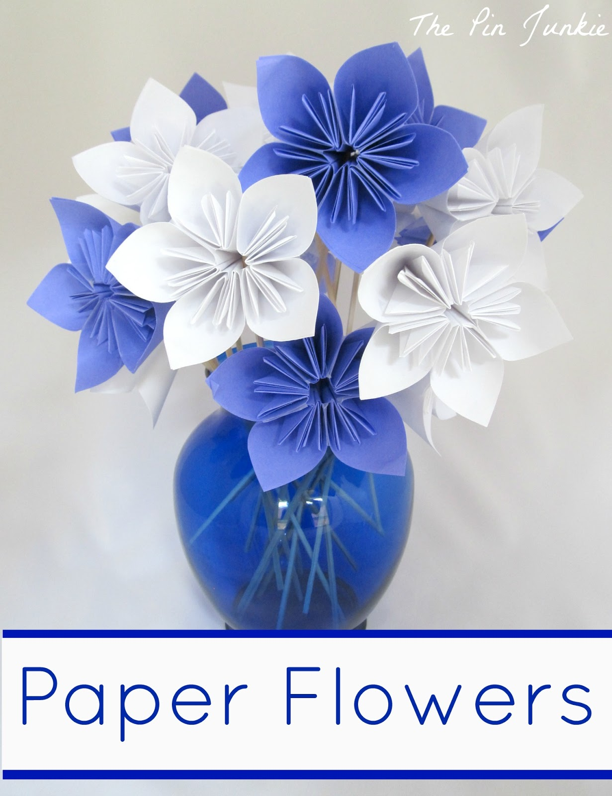Paper origami flowers the pin junkie i used plain printer paper and cut it to make a square but you can use scrapbook paper just make sure the paper you choose isnt too thick or it will be mightylinksfo