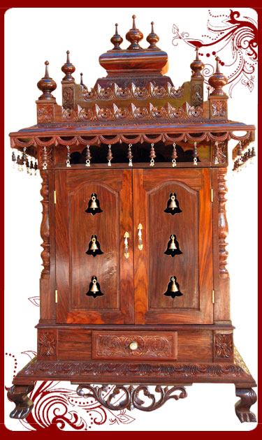 information of the product wooden pooja mandapam rosewood pooja mandir