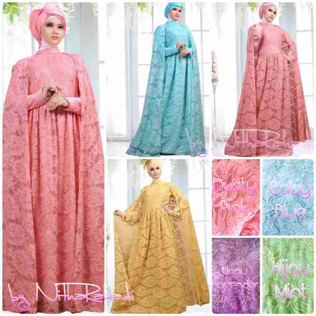 Rumah Hijab Savana Oscar Dress H M Brocade By Nitha Rahadi