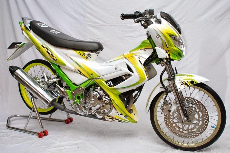 gambar modifikasi motor satria fu
