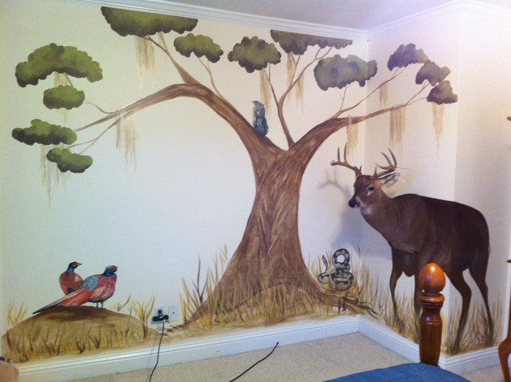 michele levani artist quot deer hunting mural quot by michele levani deer hunting wall murals galleryhip com the hippest