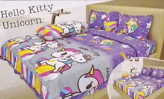 sprei Lady Rose Hello Kitty Unicorn