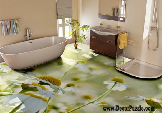 3d bathroom floor murals