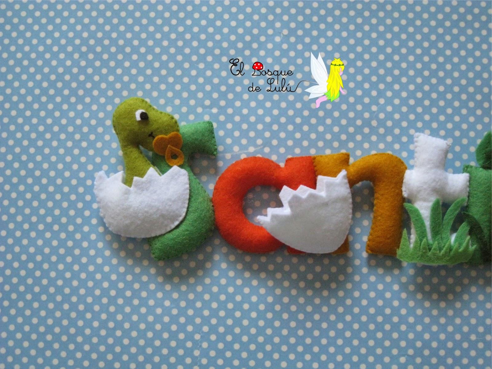 nombre-fieltro-decoración-infantil-dinosaurios-personalizado