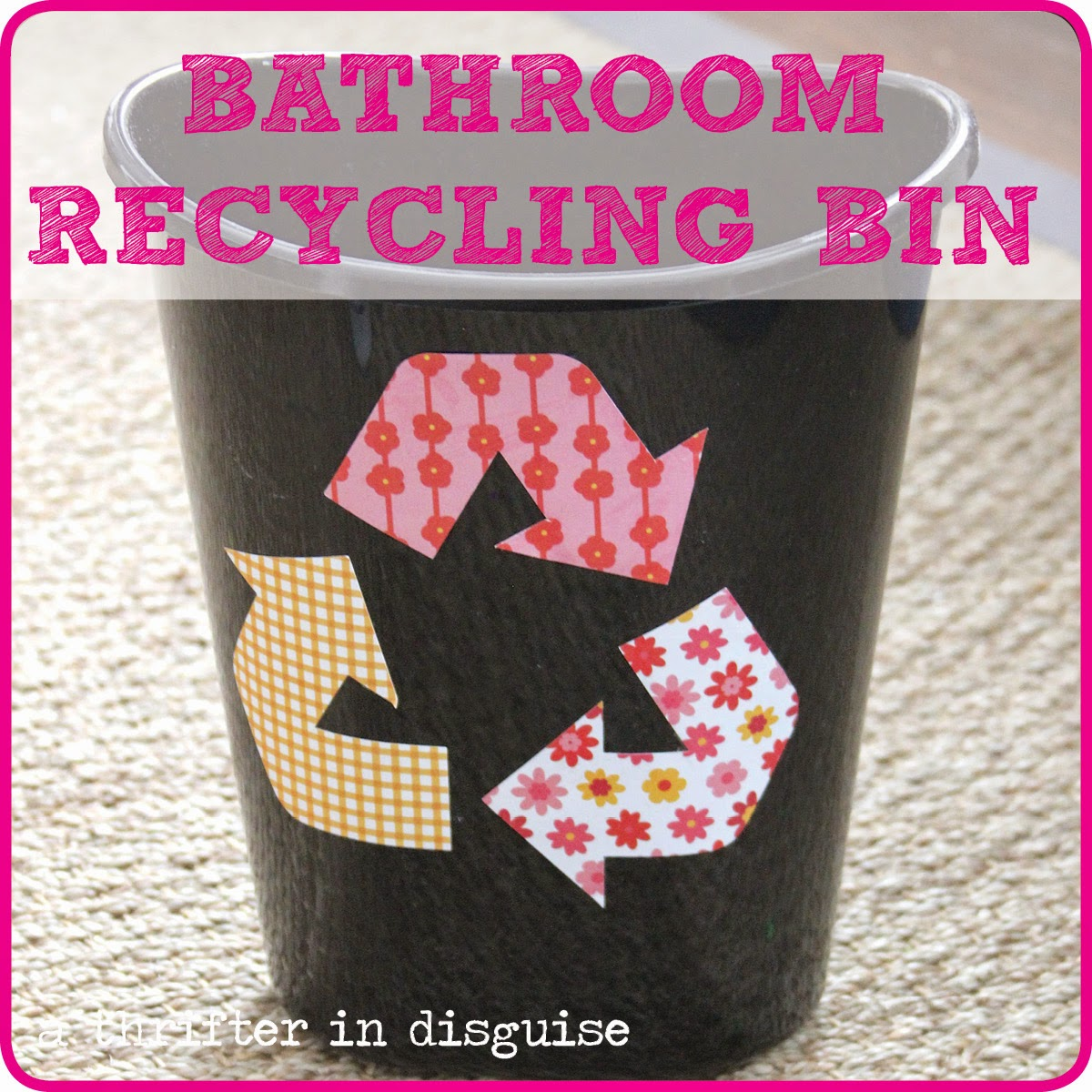 Bathroom Recycling Bin