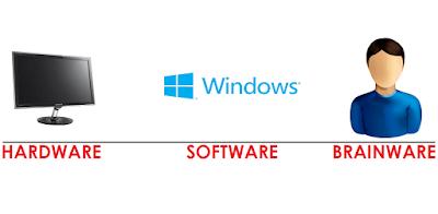 hardware, software dan brainware