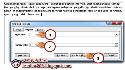 Cara memperbaiki spasi pada word akibat copy paste di internet