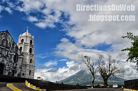 mayon volcano and daraga church panoramic pic