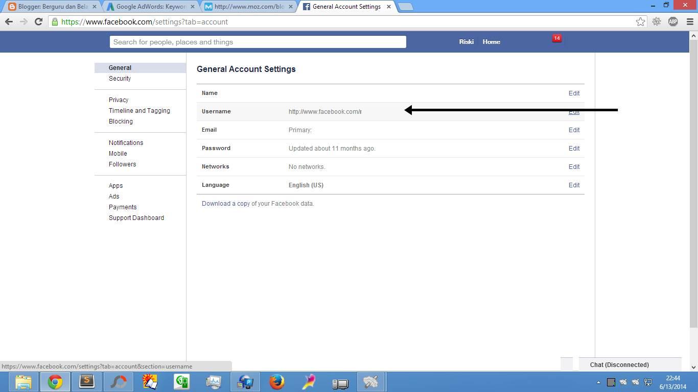 Cara Buat & Daftar Email Facebook (Gbr. 2)