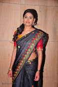Actress Maneesha Photos in Saree-thumbnail-17