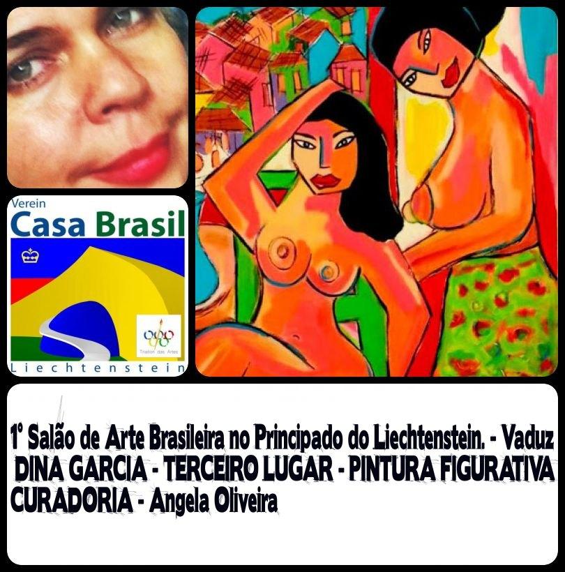 TERCEIRO LUGAR NA CATEGORIA PINTURA FIGURATIVA NO PRIMEIRO SALÃO DE ARTE BRASILEIRA EM Liechtenste