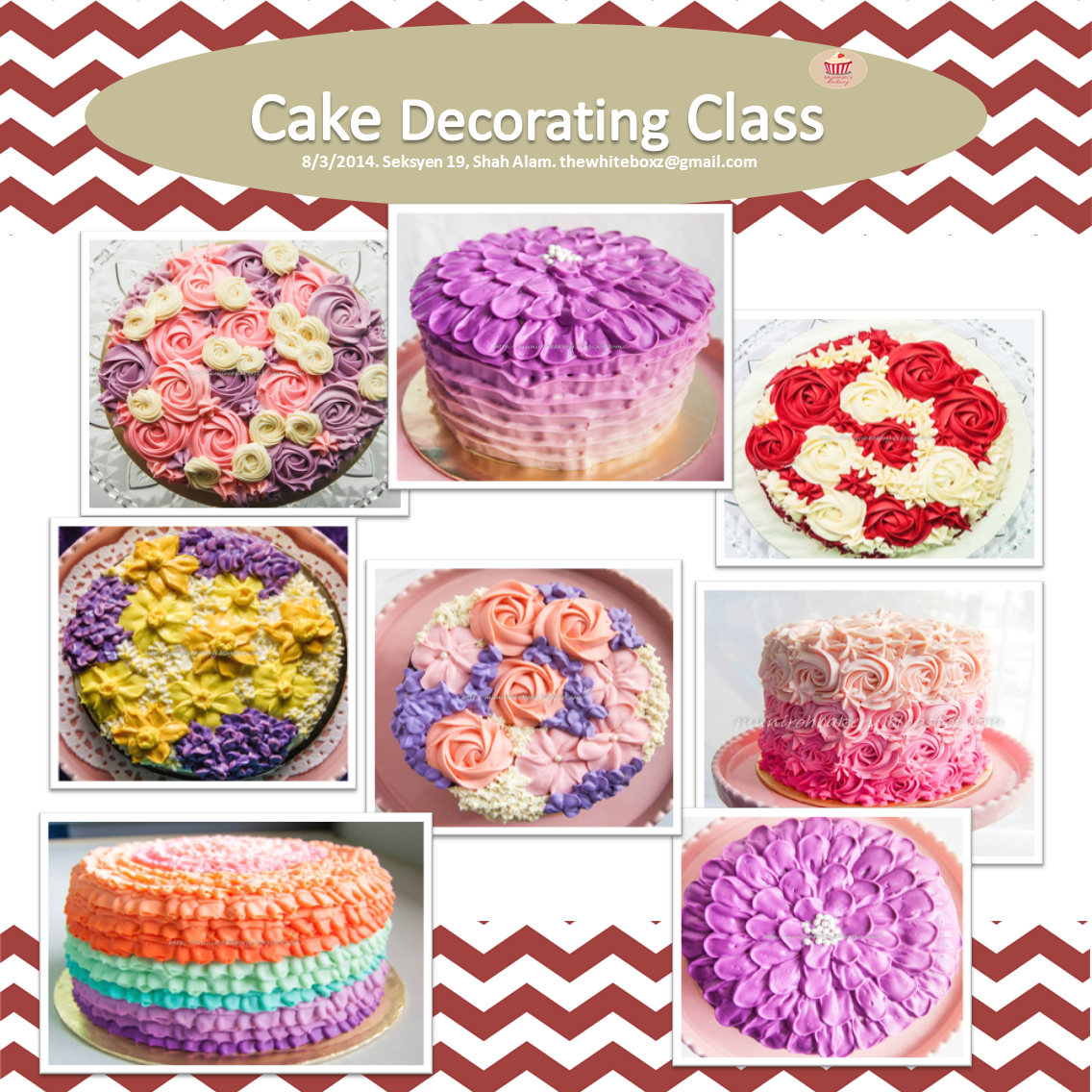 2 exciting classes by munirohs bakery cake decorating and cake - Michaels Cake Decorating Classes